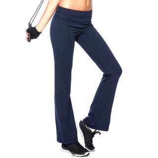 NikiBiki Activewear Women's Blue/Black Nylon/Spandex Slim-fit Flare Pants
