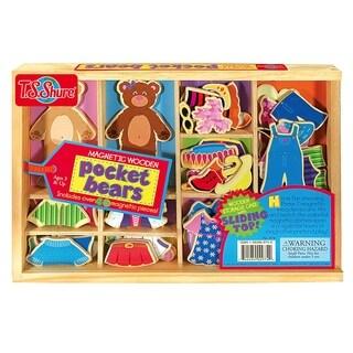 T.S. Shure Pocket Bears Wooden Magnetic Dress-Ups