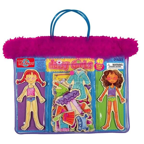 Daisy Girls Dress-Up Wooden Magnetic Dress-Up Dolls