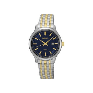 Seiko Women's Blue Dial Two-tone Multi-link Bracelet Watch