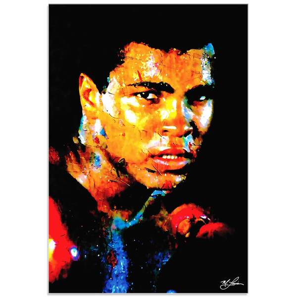Mark Lewis 'Muhammad Ali Affirmation Realized' Limited Edition Pop Art Print on Metal or Acrylic