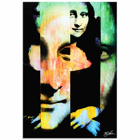 Mark Lewis 'Mona Lisa Noble Purity' Limited Edition Pop Art Print on Metal or Acrylic