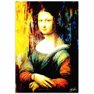 Mark Lewis 'Mona Lisa Ageless Charm' Limited Edition Pop Art Print on Metal or Acrylic