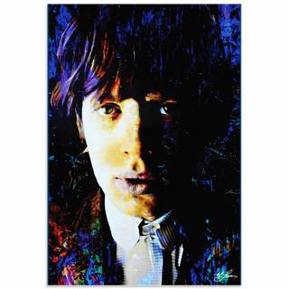 Mark Lewis 'Mic Jagger Poetic Secrets' Limited Edition Pop Art Print on Metal or Acrylic