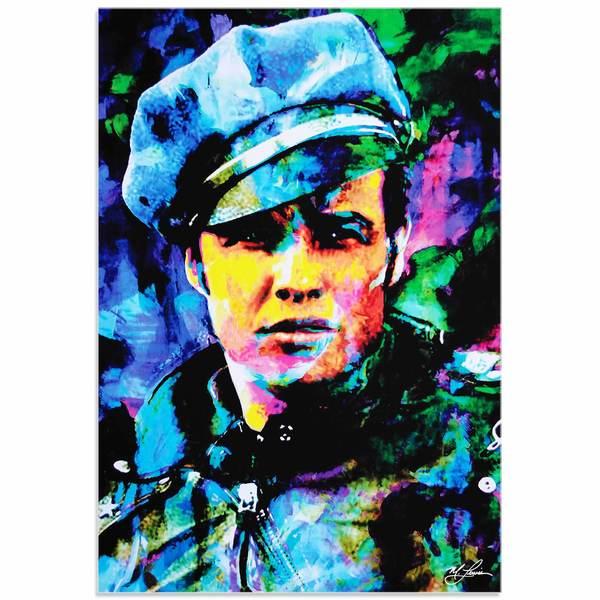 Mark Lewis 'Marlon Brando Whadda Ya Got' Limited Edition Pop Art Print on Metal or Acrylic