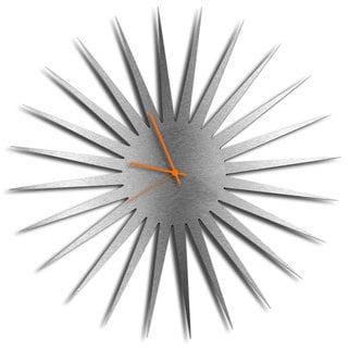 Adam Schwoeppe 'MCM Starburst Clock - Silver' Midcentury Modern Style Wall Decor