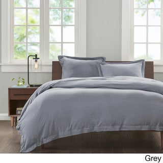 INK+IVY Jersey Cotton 3-piece Duvet Cover Set (More options available)