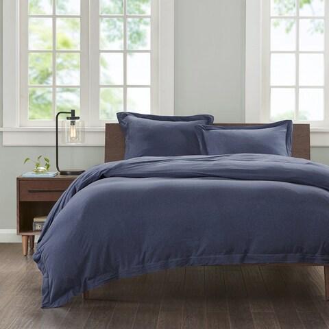 Carbon Loft Hammond Jersey Cotton 3-piece Duvet Cover Set