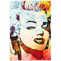 Mark Lewis 'Marilyn Monroe Red' Limited Edition Pop Art Print on Metal or Acrylic