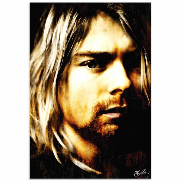 Mark Lewis 'Kurt Cobain As Darkness Fell' Limited Edition Pop Art Print on Metal or Acrylic
