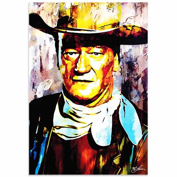 Mark Lewis 'John Wayne Gallant Duke' Limited Edition Pop Art Print on Metal or Acrylic