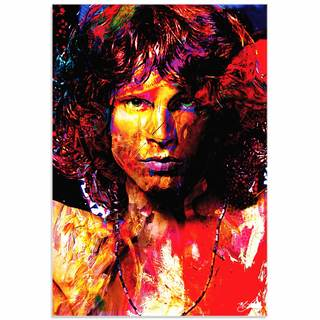 Mark Lewis 'Jim Morrison Window of My Soul' Limited Edition Pop Art Print on Metal or Acrylic
