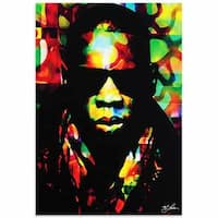 Mark Lewis 'Jay Z Color of a CEO' Limited Edition Pop Art Print on Metal or Acrylic