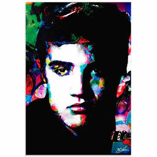 Mark Lewis 'Elvis Presley Electric Ambition' Limited Edition Pop Art Print on Metal or Acrylic