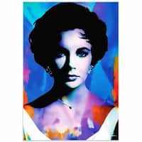 Mark Lewis 'Elizabeth Taylor The Color of Passion' Limited Edition Pop Art Print on Metal or Acrylic