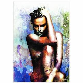 Mark Lewis 'Charlize Theron Blue Daze 2' Limited Edition Pop Art Print on Metal or Acrylic