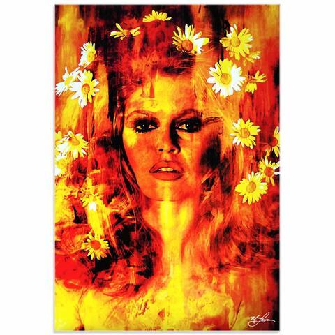 Mark Lewis 'Bridget Bardot Life Captured' Limited Edition Pop Art Print on Metal or Acrylic
