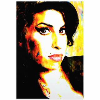 Mark Lewis 'Amy Winehouse A School of Thought' Limited Edition Pop Art Print on Metal or Acrylic