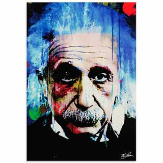 Mark Lewis 'Albert Einstein Questioning Tomorrow' Limited Edition Pop Art Print on Metal or Acrylic