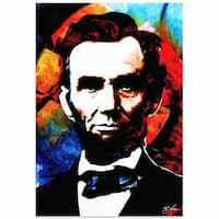 Mark Lewis 'Abraham Lincoln Knowing Lincoln' Limited Edition Pop Art Print on Metal or Acrylic