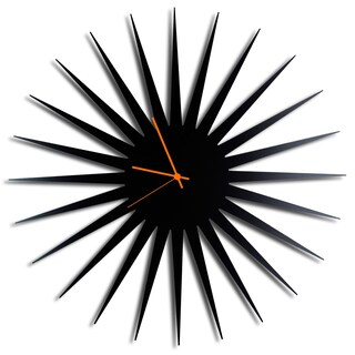 Adam Schwoeppe 'MCM Starburst Clock - Black' Midcentury Modern Style Wall Decor (Option: Orange/Black)