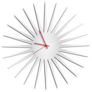 Adam Schwoeppe 'MCM Starburst Clock - White' Midcentury Modern Style Wall Decor