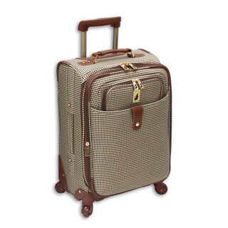 London Fog Chelsea Collection 21-inch Expandable Carry On Spinner Suitcase