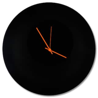 Adam Schwoeppe Blackout Circle Clock Minimalist Modern Black Wall Decor