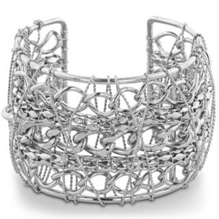 Adoriana Chunky Multiple Strand Chain 2-inch Wide Wire Wrapped Cuff Bracelet (7 Inches)|https://ak1.ostkcdn.com/images/products/11901574/P18795240.jpg?impolicy=medium