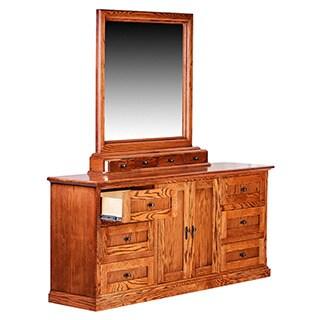 Forest Designs Mission Nine Drawer Dresser & Mirror