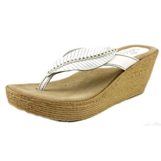 Sbicca Women's Recife White Leather Sandals