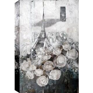 Hobbitholeco., Christina Lovisa, Paris, Abstract, Hand Applied Gel Brush Finish Canvas