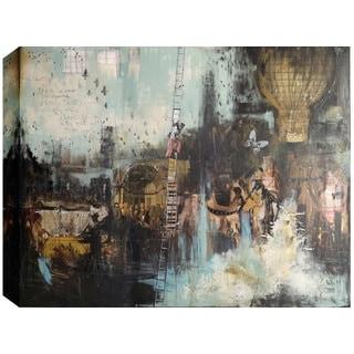 Hobbitholeco., Christina Lovisa, The escape chance, Abstract, Hand Applied Gel Brush Finish Canvas
