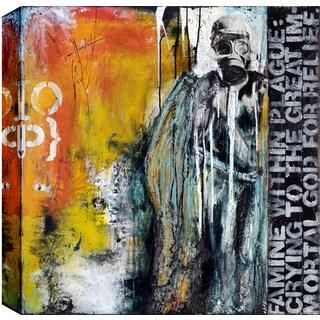 Hobbitholeco., Christina Lovisa, Apocalypse, Abstract, Hand Applied Gel Brush Finish Canvas