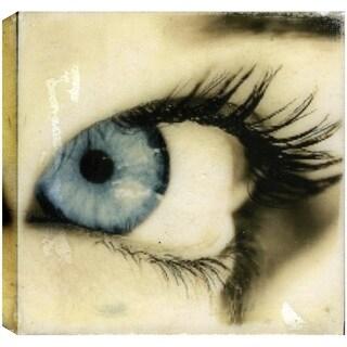 Hobbitholeco. Christina Lovisa, The Eye, Abstract, Gel Brush Finish Canvas Wall Art Decor, Gallery Wrapped 24X24