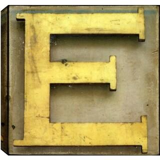 Hobbitholeco. Christina Lovisa, Alphabet, Abstract, Gel Brush Finish Canvas Wall Art Decor, Gallery Wrapped 24X24