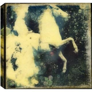 Hobbitholeco., Christina Lovisa, Riding Horse, Abstract, Hand Applied Gel Brush Finish Canvas