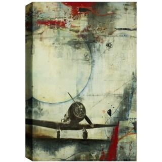 Hobbitholeco. Christina Lovisa, Word T, Abstract, Gel Brush Finish Canvas Wall Art Decor, Gallery Wrapped 24X24
