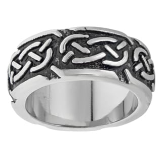 Stainless Steel Ring with Black Ionic Plating