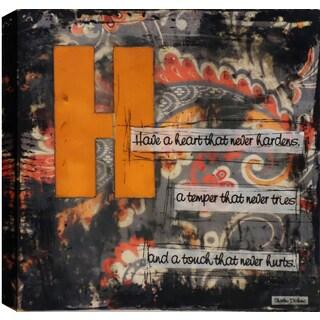 Hobbitholeco. Christina Lovisa, Have a Heart, Abstract, Gel Brush Finish Canvas Wall Art Decor, Gallery Wrapped 24X24