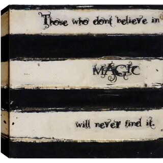Hobbitholeco. Christina Lovisa, Magic, Abstract, Gel Brush Finish Canvas Wall Art Decor, Gallery Wrapped 24X24