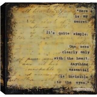 Hobbitholeco. Christina Lovisa, Secret, Abstract, Gel Brush Finish Canvas Wall Art Decor, Gallery Wrapped 24X24