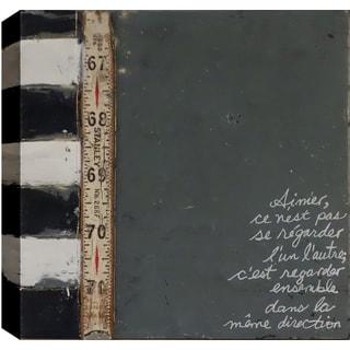 Hobbitholeco. Christina Lovisa, Words, Abstract, Gel Brush Finish Canvas Wall Art Decor, Gallery Wrapped 24X24