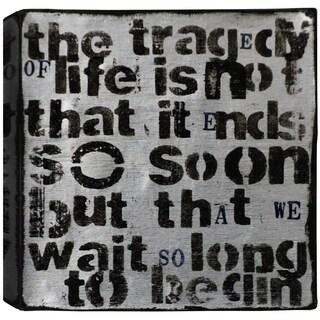 Hobbitholeco. Christina Lovisa, Tragedy of Life, Abstract, Gel Brush Finish Canvas Wall Art Decor, Gallery Wrapped 24X24