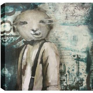 Hobbitholeco. Christina Lovisa, Alien Head, Abstract, Gel Brush Finish Canvas Wall Art Decor, Gallery Wrapped 24X24