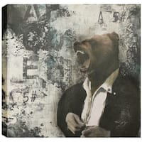 ArtMaison Canada. Christina Lovisa, Bear Head, Abstract, Canvas Print Canvas Wall Art Decor, Gallery Wrapped 24X24