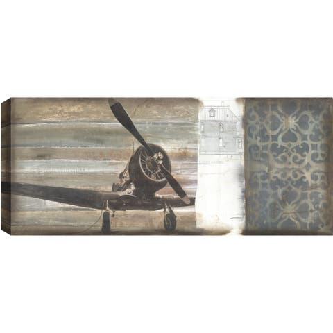 ArtMaison Canada. Christina Lovisa, Airplane, Abstract, Canvas Print Canvas Wall Art Decor, Gallery Wrapped 24X48,