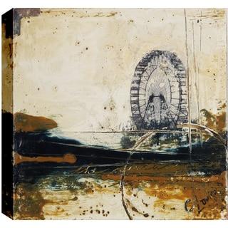 Hobbitholeco., Christina Lovisa,Day Circus, Abstract, Hand Applied Gel Brush Finish Canvas