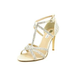 INC International Concepts Women's Reggi Gold Fabric Sandals