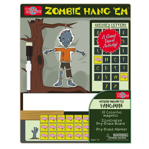 T.S. Shure Hang Em Zombie Wooden Magnetic Hangman Game